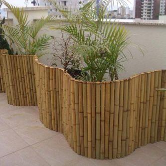 Rollzaun aus Bambus